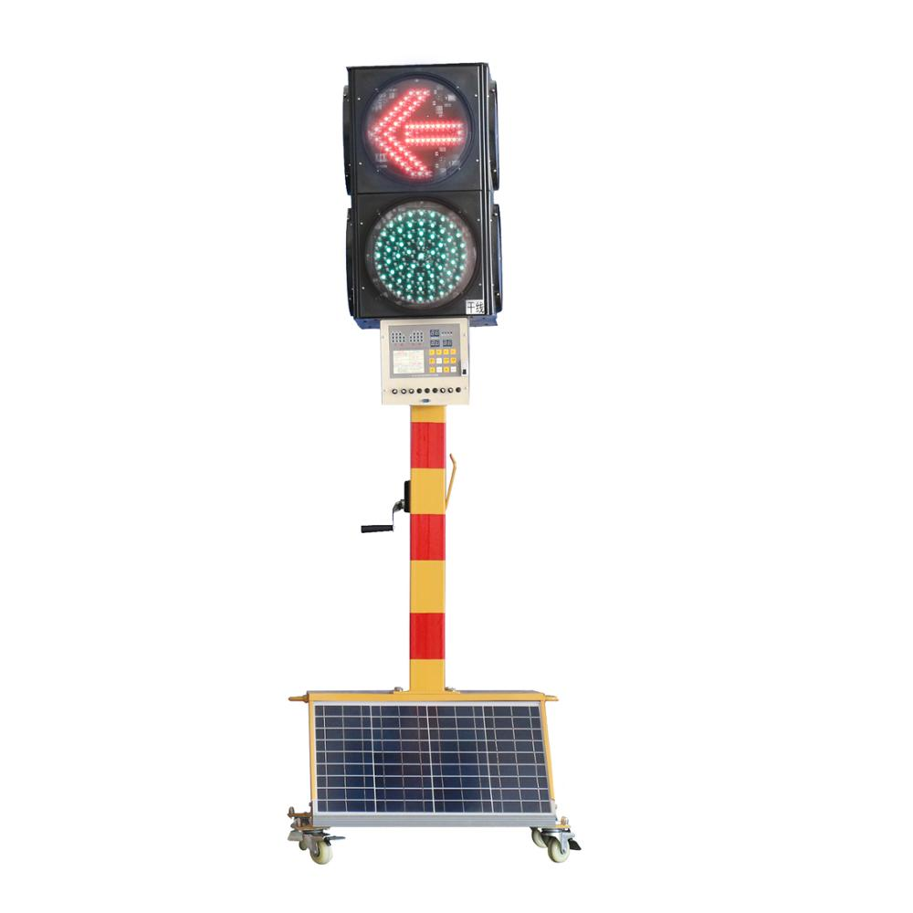 Quality led traffic signal light solar battery powered traffic lights flashing caution light