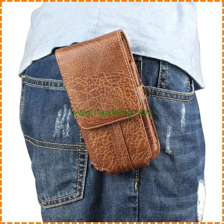 Belt Clip Universal Waist Pouch Holster Leather Case for iphone X