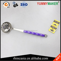 Stainless Steel Kitchen Utensil Heat Resistant Slotted Ladle Strainer Pasta Spoon