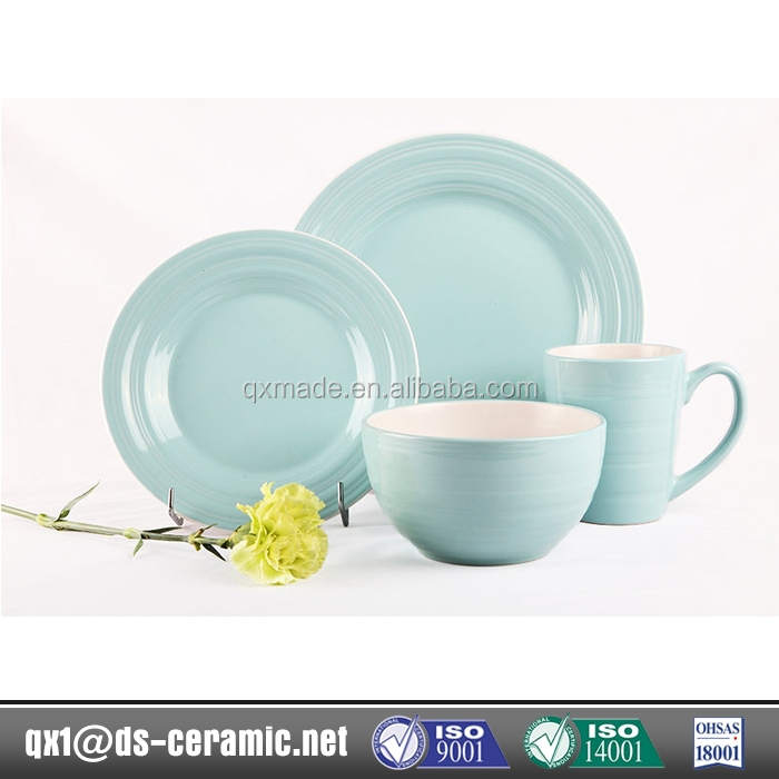 2017 canton fair China manufacture Hot selling custom logo stoneware dinnerware 16pcs dinner set ceramic tableware