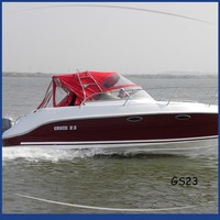 Gather 2016 hot sale cheap fiberglass boat,5011 color 5m small fiberglass boat
