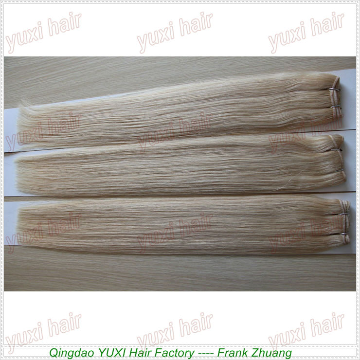 Factory Cheap European Human Hair Wholesale Blonde Hair Extension