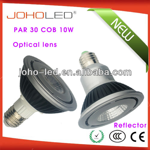 30/45 degree reflector cup par30 e27 10w cob led par bulb/recessed spot light