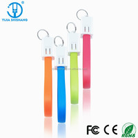 keychain micro usb charging data cable for promotion gift factory wholesale price