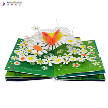 Die cut children stand book printing foldable activity pop-up book