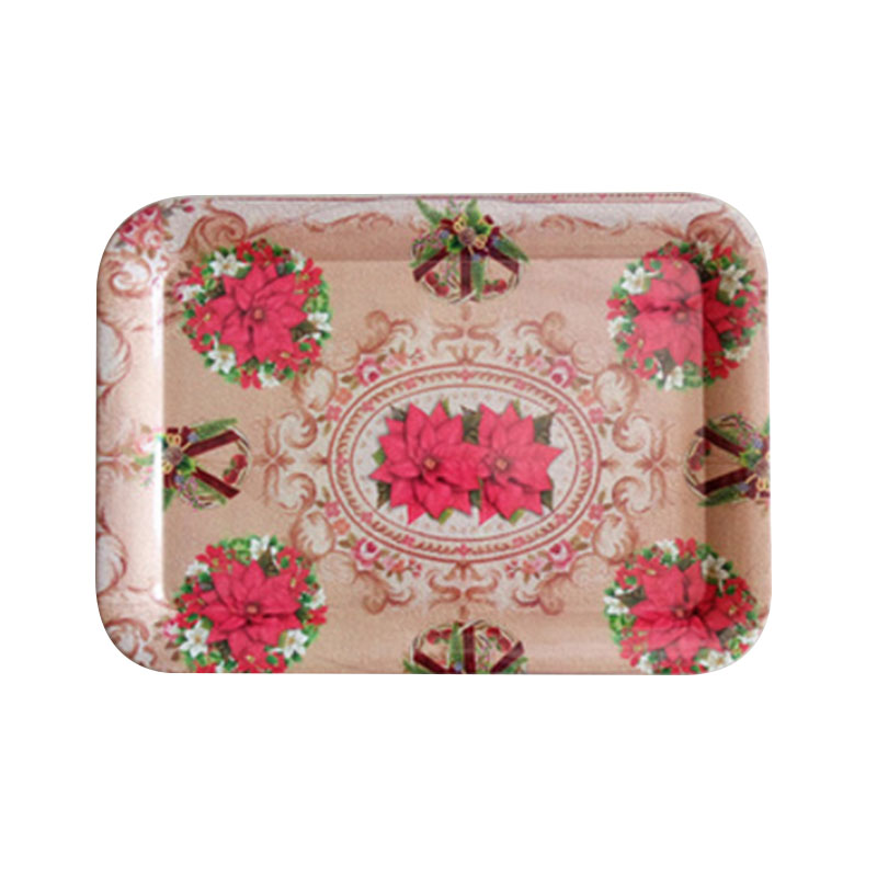 Top sale household daily plastic christmas tray,japanese serving trays