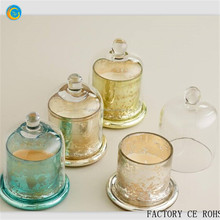 candle holder with round lid gold supplier glass dome