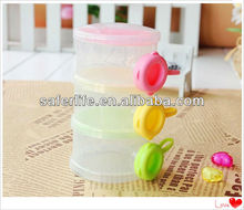 2017 Baby Food Storage 3-compartment Milk Powder Container