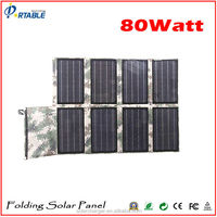 Foldable & Portable 80W 19V solar panel charger for laptop,battery,macbook