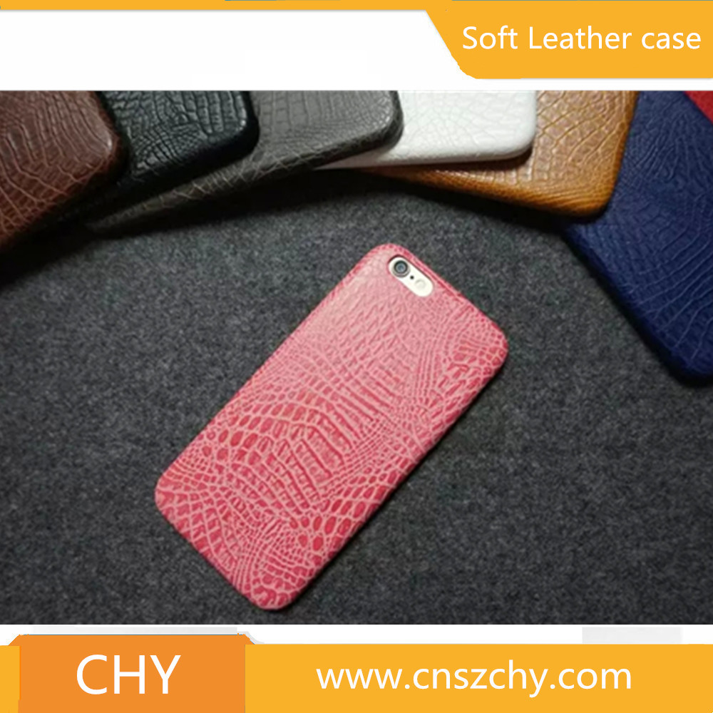 Premium crocodile skin leather back cover mobile phone case for iphone 6