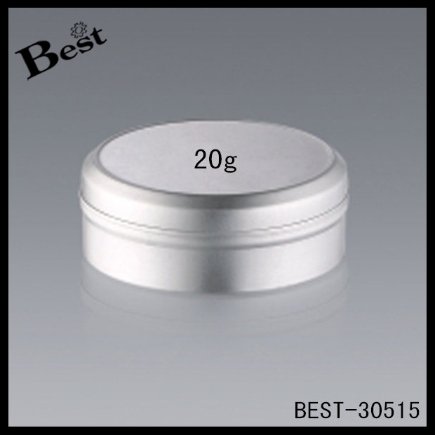 20 / 40 / 80g pure gel aluminium jar, cheaper factory aluminum jars wholesale