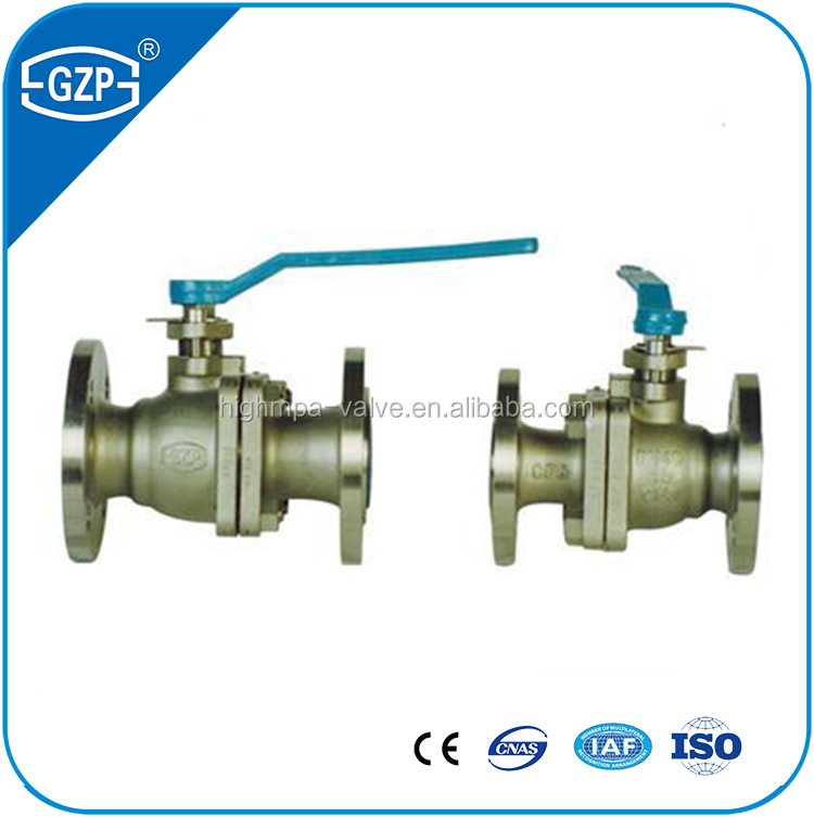 GZP brand flanged ball valve with handwheel driving for water gas oil