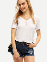 ONLY FOR OpenSky SheIn White Loose Women Wholesale China Cotton Blank T Shirt