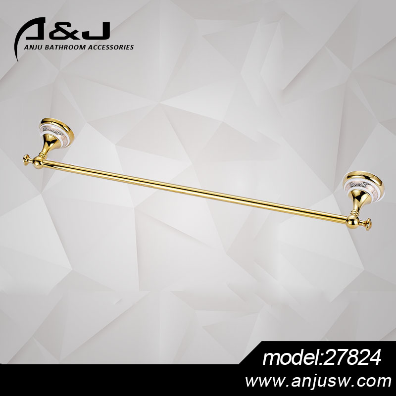 Bathroom Single Double Mounted Brass Chrome Plated Magnetic Mounted Brass Towel Bar Cheap Bath Brass Towel Rail