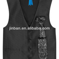 Mens Black Wholesale Uniform Vest For