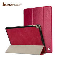 Jisoncase New Product rose red PU Leather Folio Case for iPad Pro 10.5inch