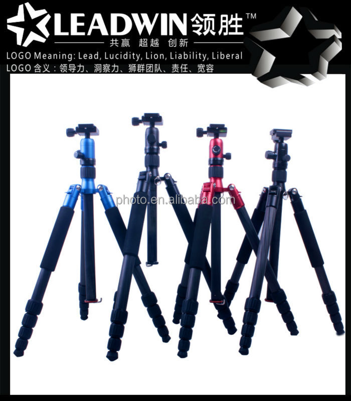 LW-PT02 professional extendable carbon fiber tripods for cameras video