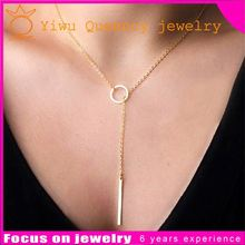 Jewelry Wholesale 2015 gold Necklace simple design Jewelry