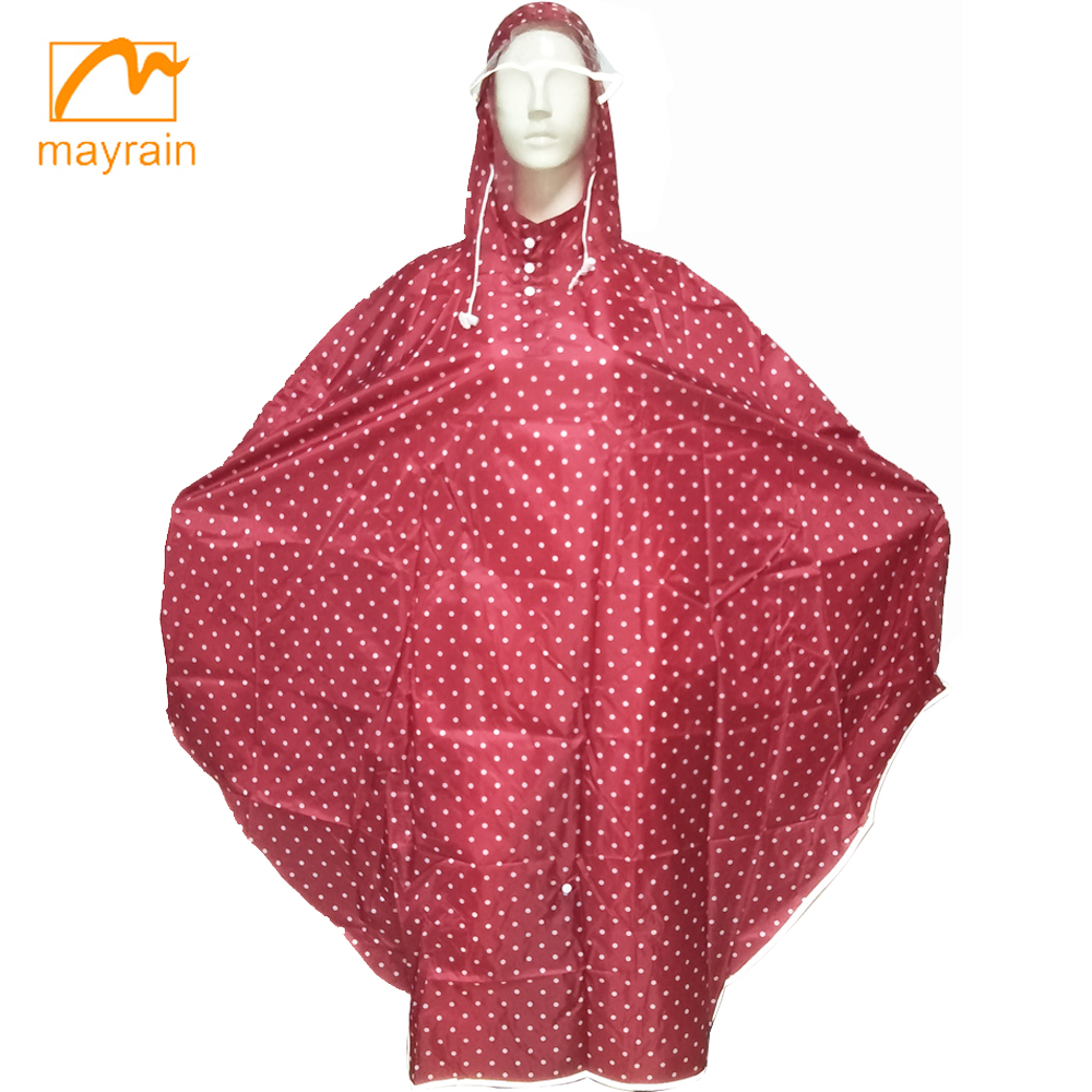 2017 Fashion Polyester Rain Ponchos with Logo