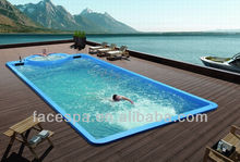 Outdoor spa 12 meter Liquid Acrylic Swimming Pool FS-P12