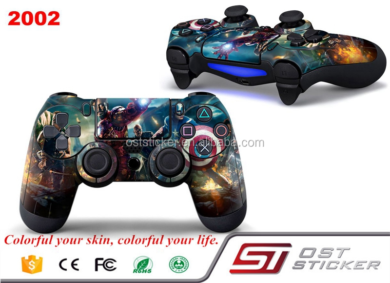 Cool PVC High quality Skin Sticker For PS 4 Wireless Controller Cover