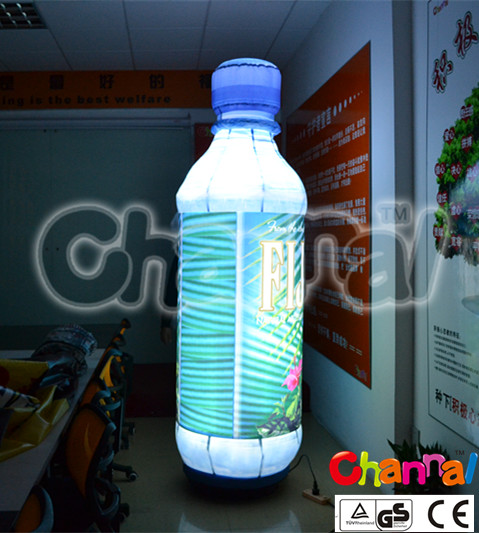 outdoor advertising inflatable led lighting bottle for sale