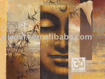 Hot sold handpainted buddha oil painting