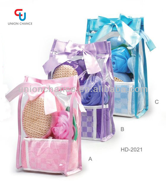 Promotional Bath Gift Sets In Pvc Bag