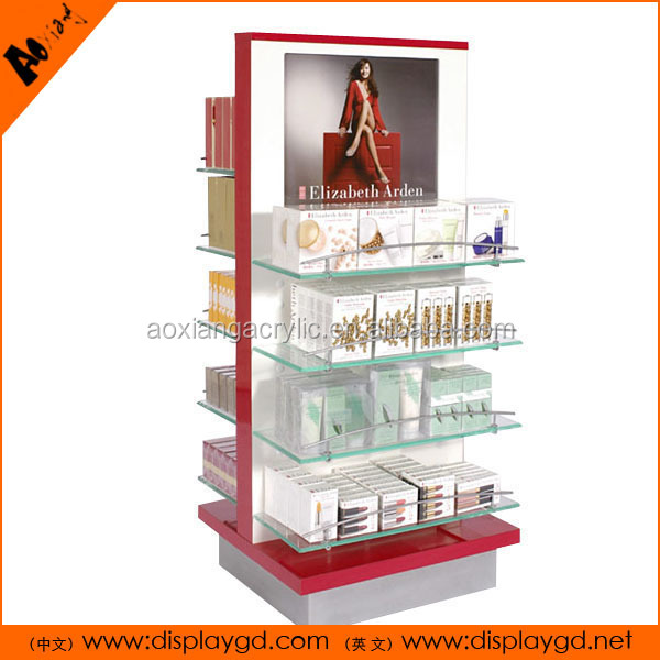 clear acrylic cosmetic display indoors