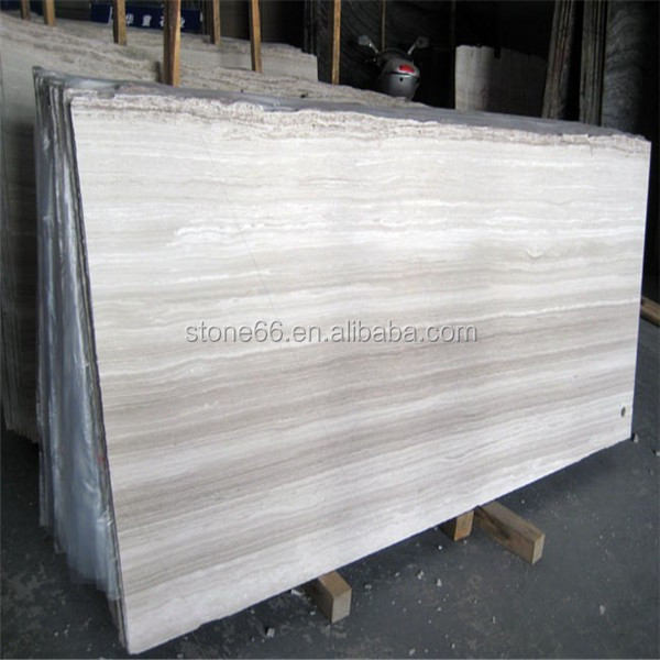 White Travertine Silvery Wooden Marble