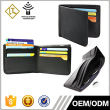 New Style Top Quality Custom Wholesale Men Rfid Blocking Leather Wallet with coin pocket inside