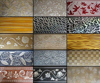 1220mm*2440mm fiberboard insulation embossed wall art