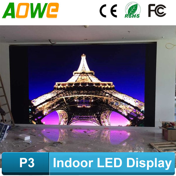 P3 high definition die casting aluminum cabinet p3 led display panel price suitable for very closed viewing