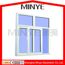 China supplier cheap price double safety glass UPVC sliding window with mosquito net invisible