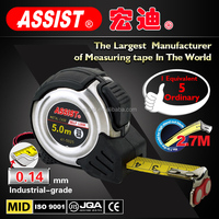 Assist factory direct supply metal steel tape measuring ,wooden tape measure with rubber waterproof tape measure