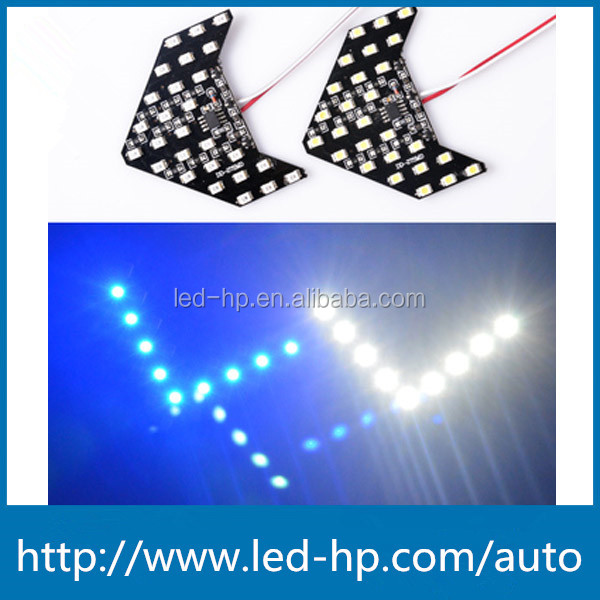 SMD LED Arrow Mini Panel Sequential Flash Car Side Mirror Turn Signal Light