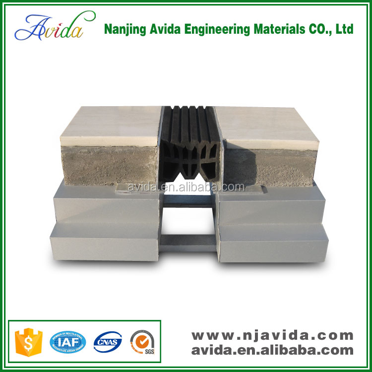 Adjustable metal bellows rubber expansion joint for floor
