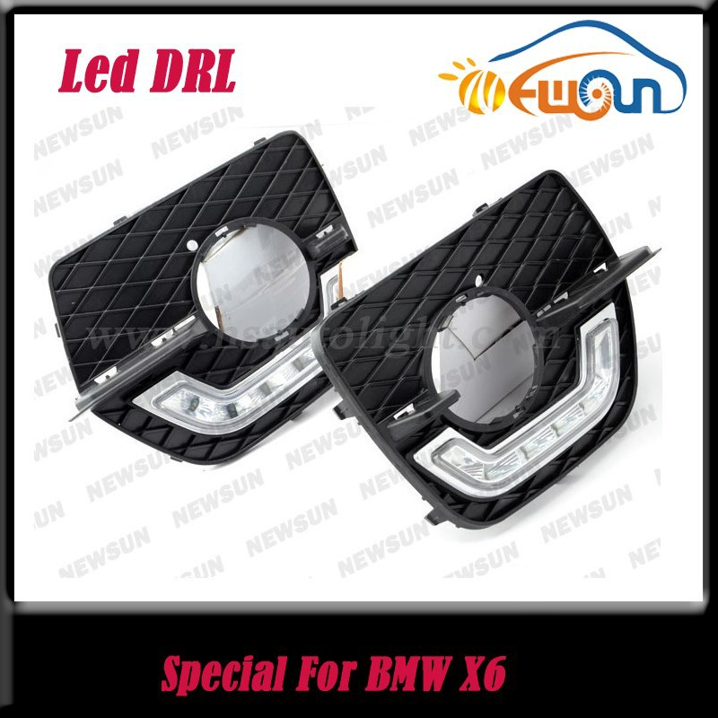 10W Waterproof DRL LED Car Parking LED DRL Daytime Running Light For BMW X6 12V DC 1100LM