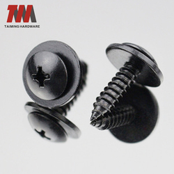 Hot Sales DIN 7981Zinc/Phosphorus Plated/Galvanized Pan Head Phillips Drive Self Tapping Sems Screws With Washer