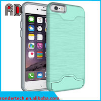 China Supplier New Products 2016 Mobile phone holder PC cover case for iphone 7 case with card slot
