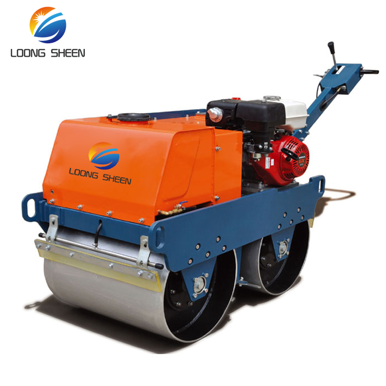 Double Drum Roller Small Hand Push Manual Road Roller