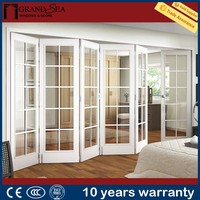 Free sample interior partition usage plastic folding shower doors with simple iron grill design