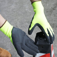 NMSAFETY picking apple use 13g anti-grip foam latex palm soft labor gloves
