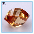 Pendant golden yellow irregular shaped cz