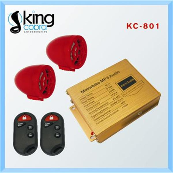 motorcycle mp3 audio anti-theft alarm system