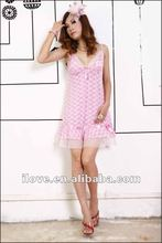 2015 Newest Pink Mature Lingerie Babydoll For Fat Women With Lace Wholesale And Retail DY5455