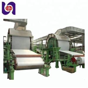 New design bamboo pulp facial tissue production line toilet paper machine with price for sale