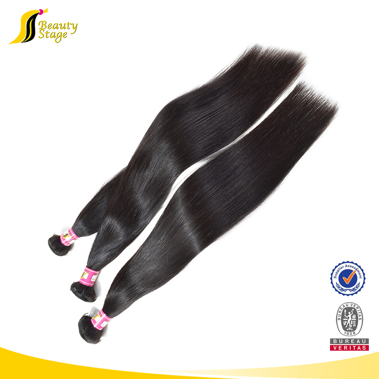 Easy to color malaysian hair wholesale straight 6 inch hair weaving