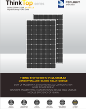 Think Top High Efficiency PERC cells 340w 350w 360w 72 cells Monocrystalline Solar Module for 50KW Solar System