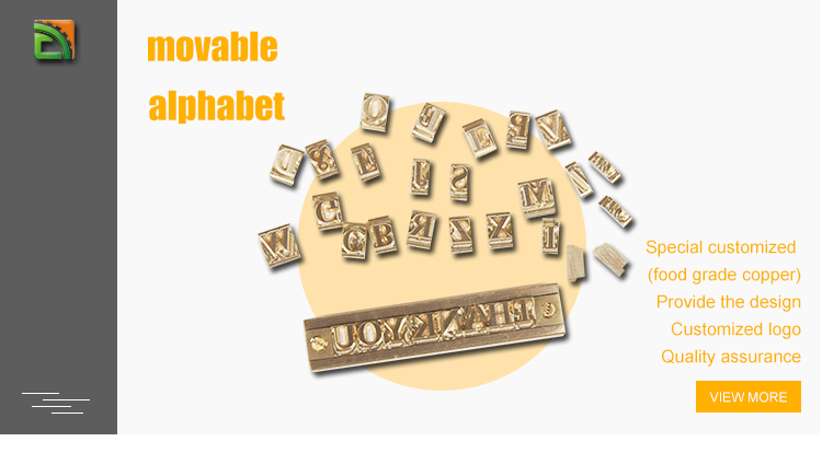 customized alphabet logo stamp hot stamping letter mold branding stamp set with t-slot holder